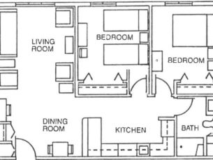 Parkside Two Bedroom Floor Plan